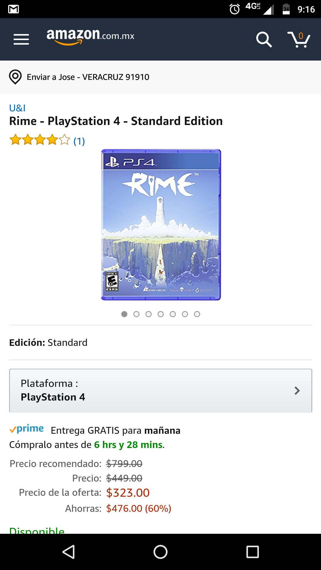 Amazon: Rime PS4  oferta relámpago