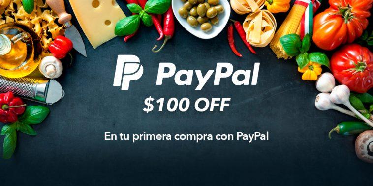 Cornershop: $100 de descuento en compras de $300 con paypal (usuarios que pagan por primera vez con este método)