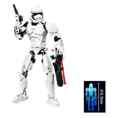 GearBest: Miniature DIY Figure ABS Building Block - 9.2 inch  -  COLORMIX 200381601