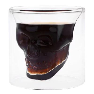 GearBest: Creative Skull Design Crystal Transparent Glass Cup  -  TRANSPARENT HD0306501