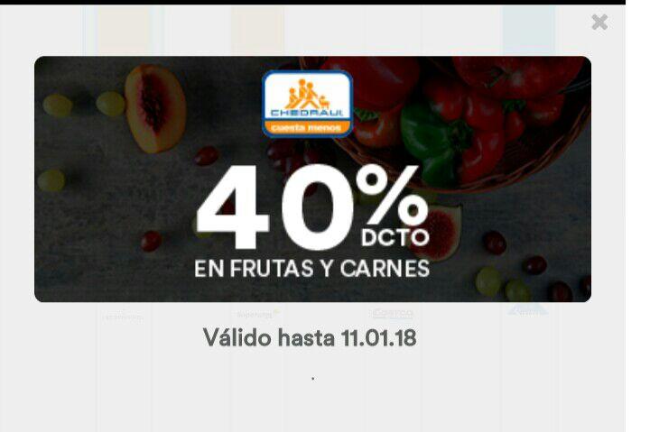 Mercadoni: Chedraui de 40% de descuento en frutas, verduras y carnes