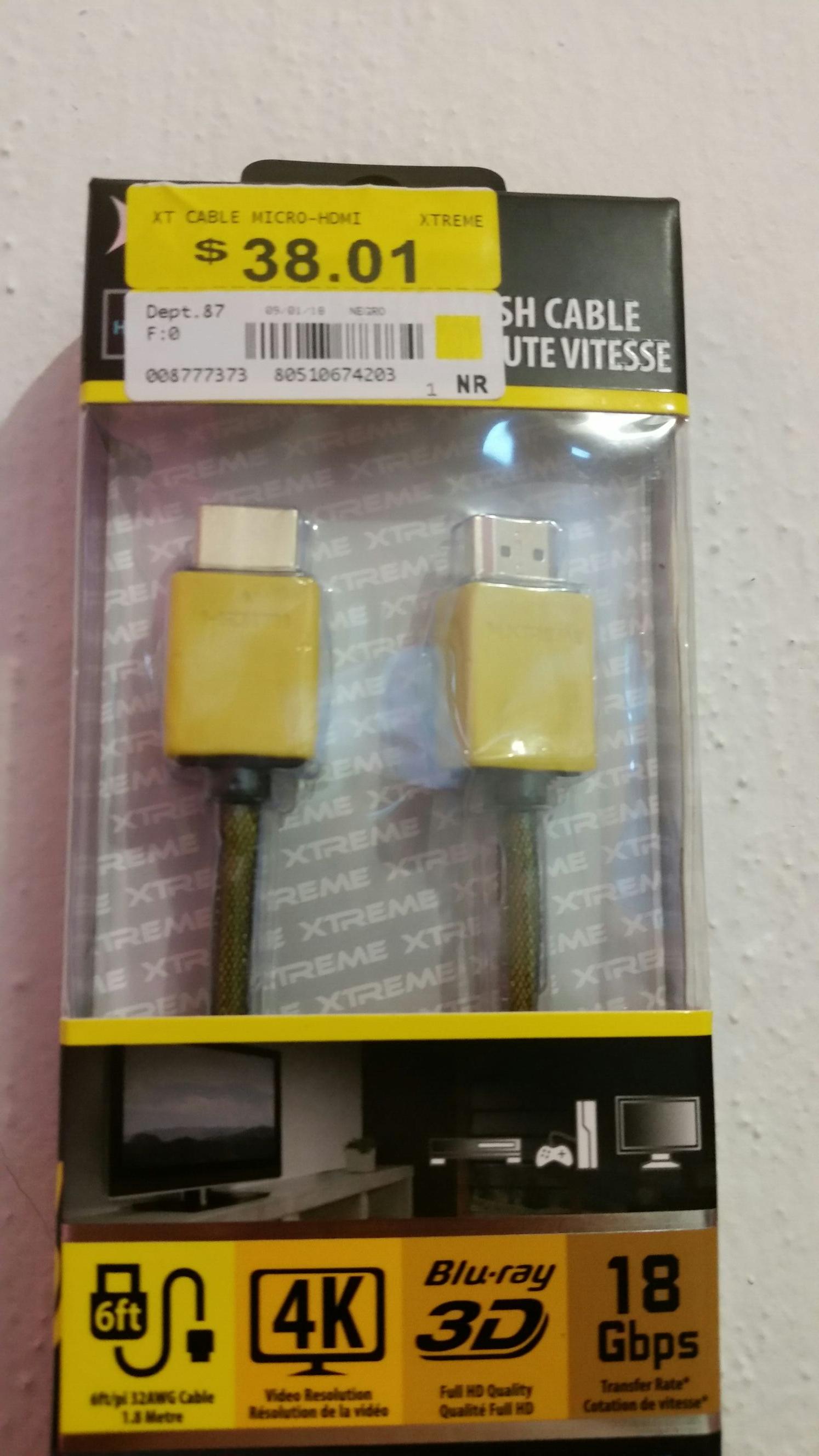 Walmart tuxtla: cable hdmi 4k