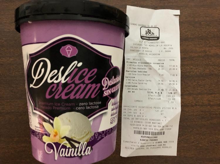 Chedraui: helado Deslice cream de 71.40 a 21.40 (VARIOS SABORES)