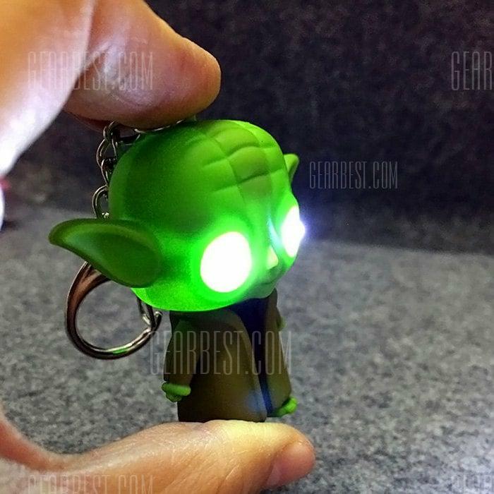 GearBest: Llavero de yoda con luz
