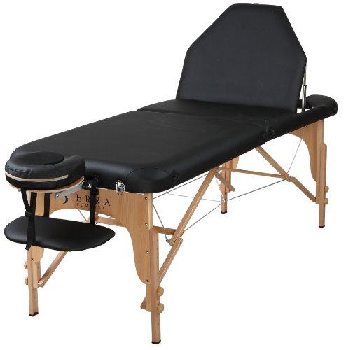 Amazon: Sierra Comfort Mesa de masaje portátil con respaldo ajustable