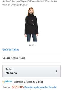 Amazon: Abrigo talla mediana