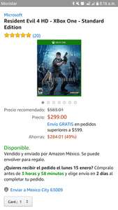 Amazon: Resident Evil 4 HD Xbox One Prime