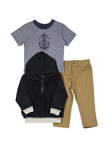 Amazon: Nautica Baby Boys' Fleece Pullover, Tee and Twill Pant Set