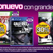 """Gamers: Descuentos en """"como nuevos"""" 10%, 15% y 30%"""