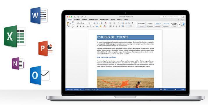 Gratis versión preliminar de Microsoft Office para Mac