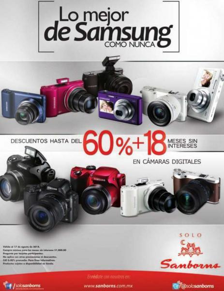 Sanborns: descuentos de hasta 60% en cámaras Samsung