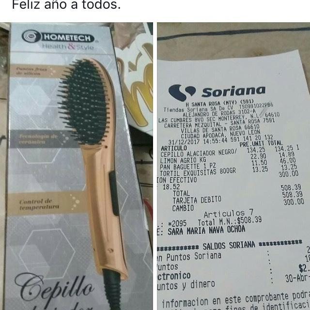 Soriana: Cepillo alaciador