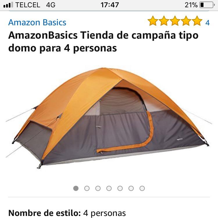 Amazon: Casa de campaña amazon basics $775
