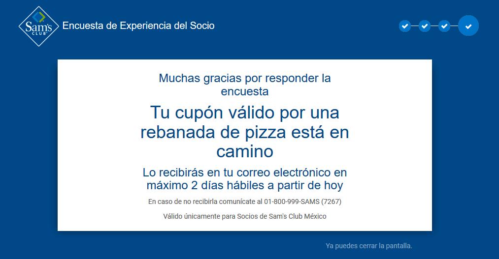 Sam's Club: Rebanada de pizza GRATIS para socios