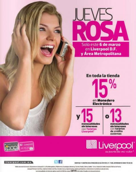 Jueves rosa en Liverpool marzo 6
