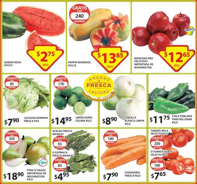 Ofertas de frutas y verduras en Soriana 10 de marzo