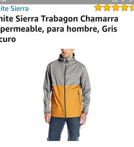 Amazon: Chamarra impermeable White  Sierra
