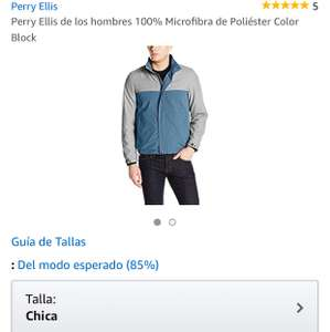 Amazon: chamarra perry ellis talla pequeña