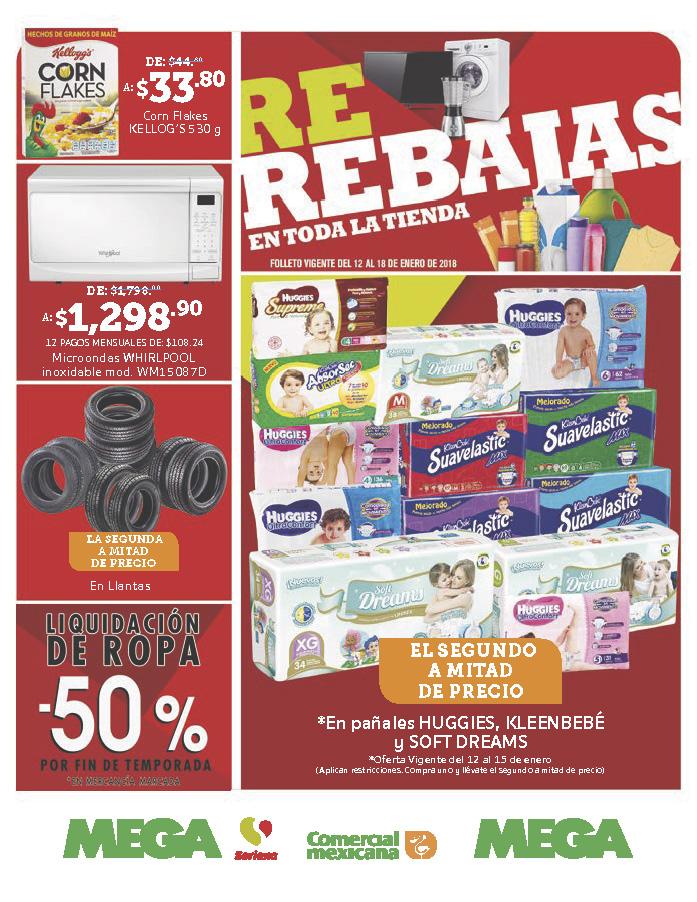 Comercial mexicana y MEGA: Folleto vigente al 18 de enero
