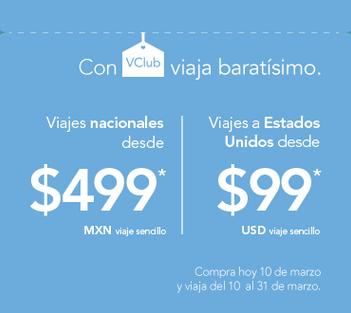 Aniversario Volaris: desde $499 nacionales y desde $99 US a USA con VClub en marzo