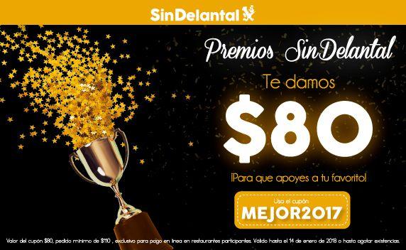 SinDelantal: Cupón $80 de descuento en pedidos de $110 ó más