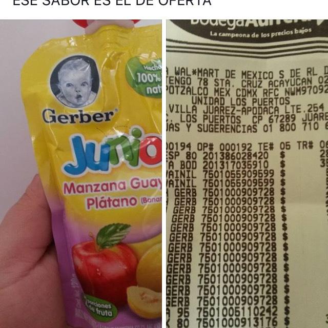 Bodega Aurrerá: Liquidación Gerber Junior a $2