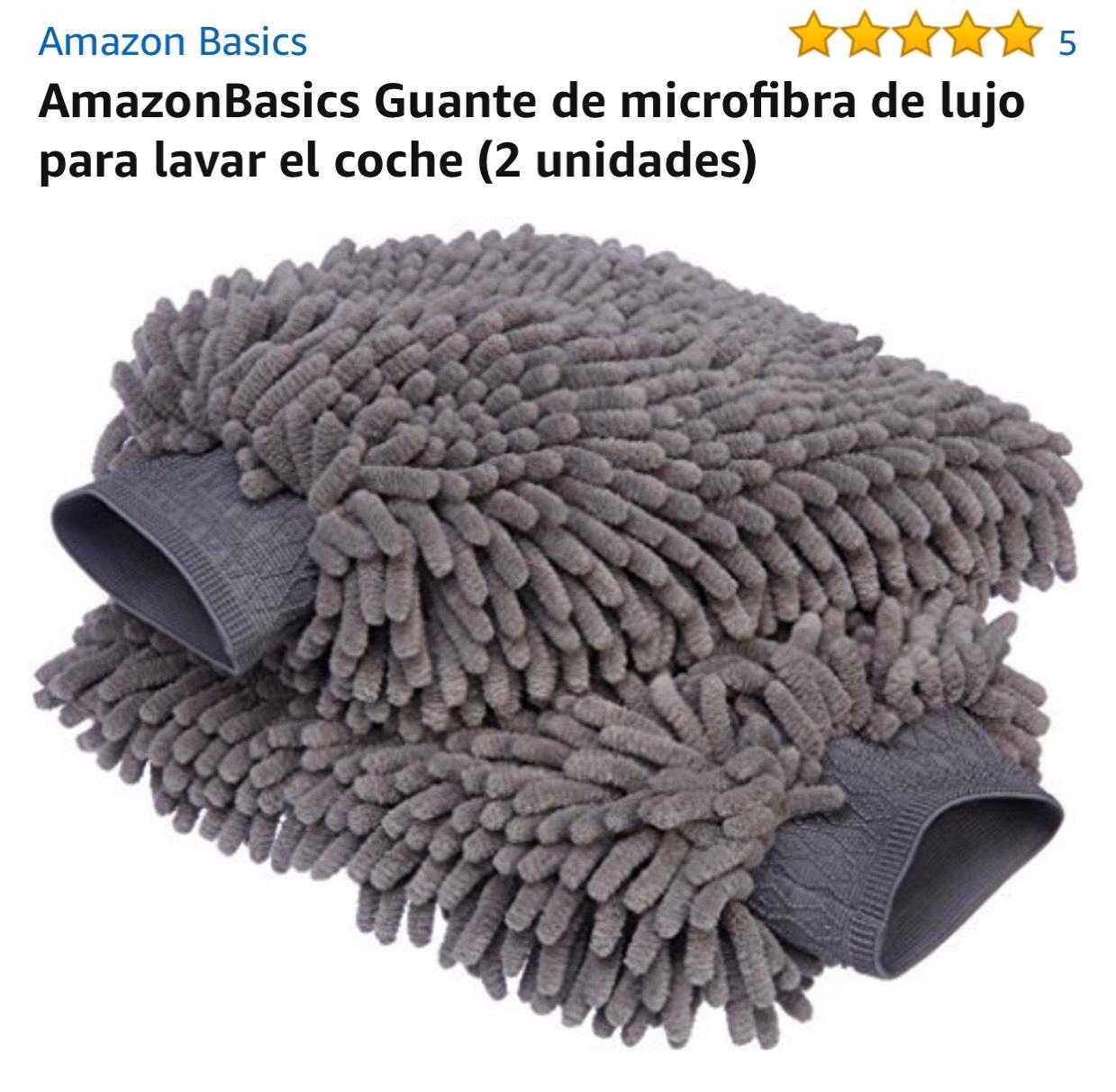 Amazon:Par de Guantes de micro fibra de lujo (2unidades) Envío Gratis Prime