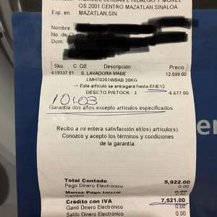 Coppel: Lavadora Mabe 20kg a $5,922
