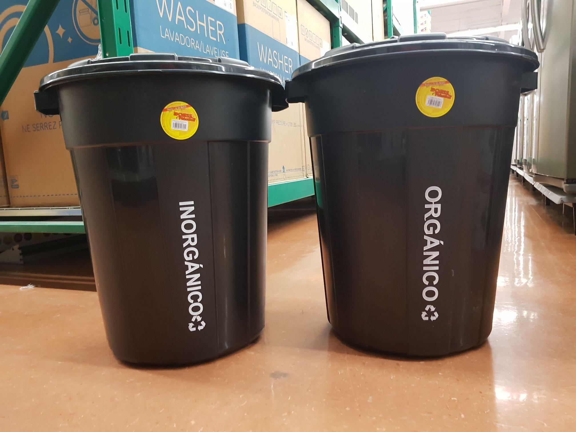 Walmart: Cesto de basura orgánico e inorgánico