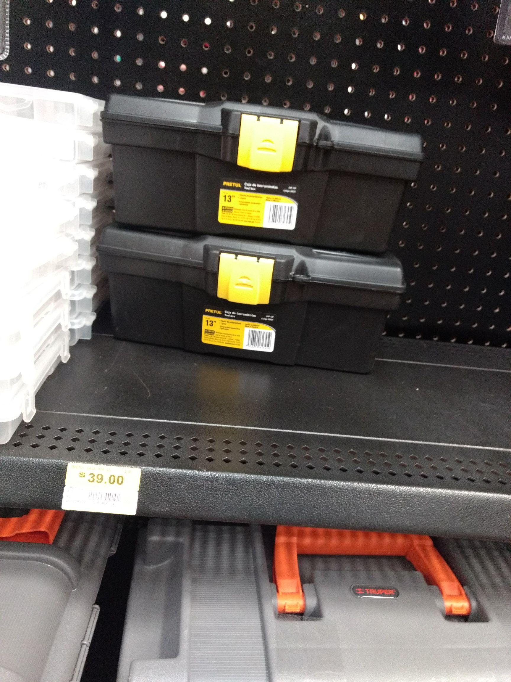 """Walmart: Caja para Herramientas de 13"""" en $39"""