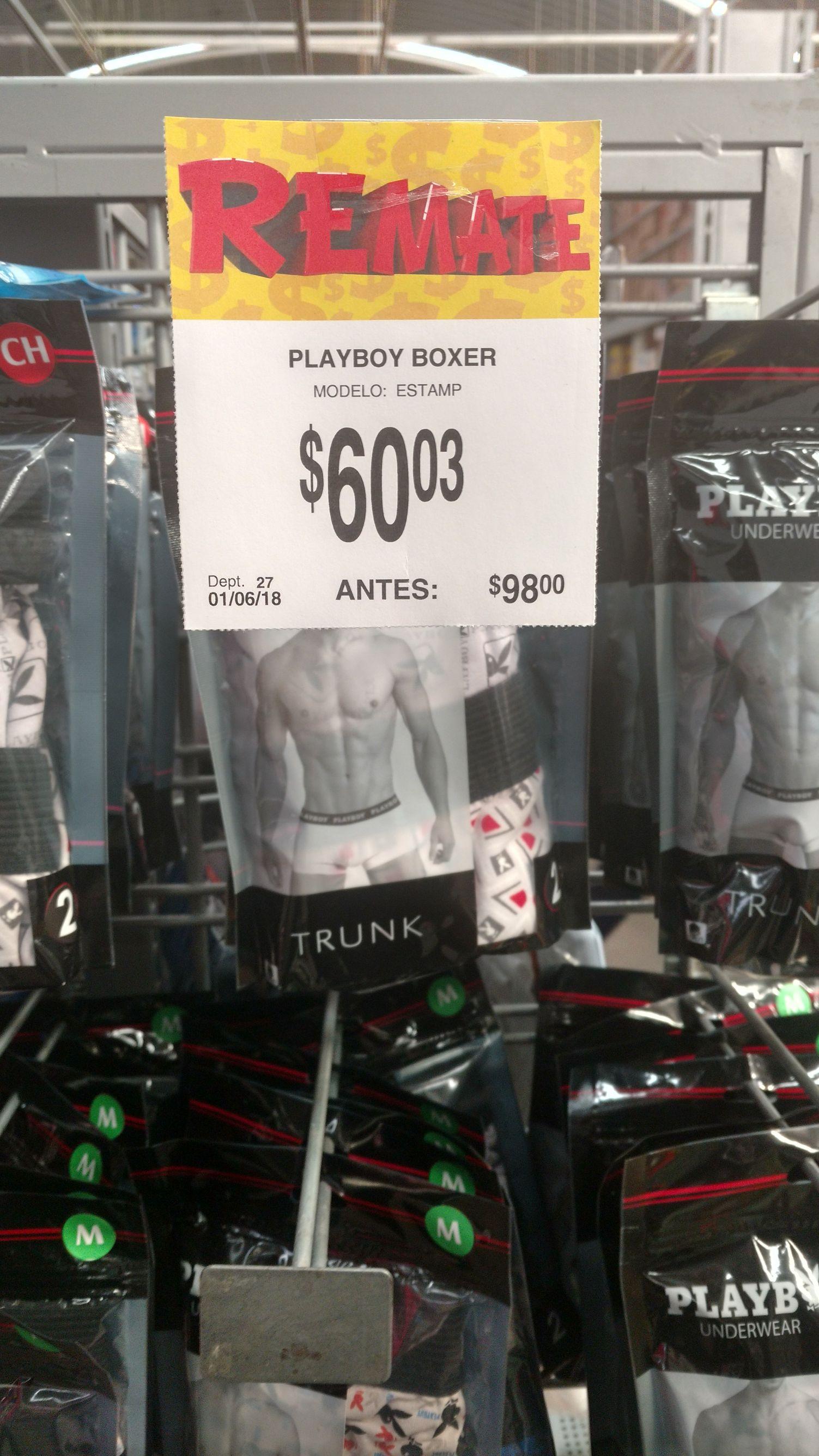 Bodega Aurrerá: boxer Playboy a $60.03