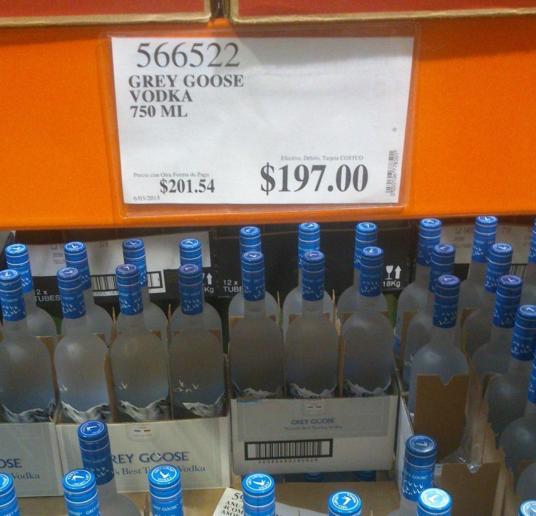 Costco: Vodka Grey Goose 750 ml $197