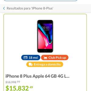 Sam's Club: IPhone 8 Plus de 64gb (para recoger en tienda)