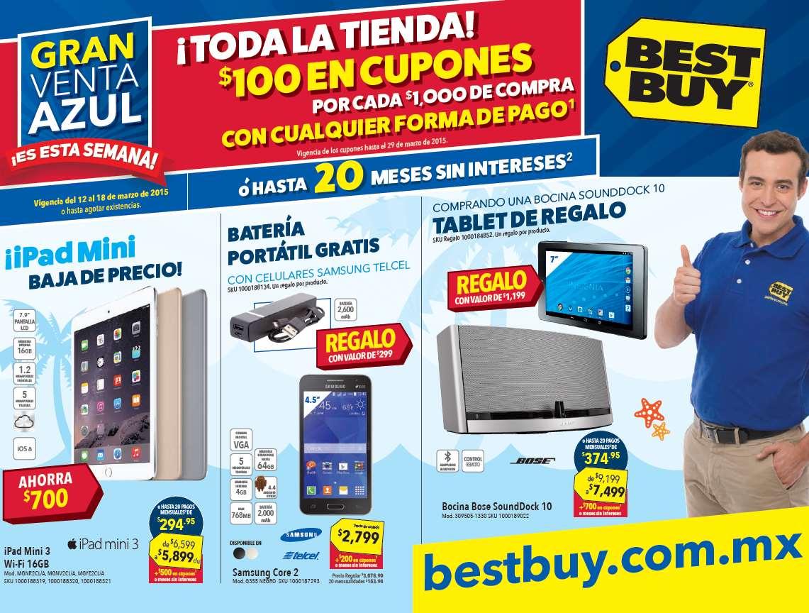 Venta Azul Best Buy: $100 de bonificación por cada $1,000 y más