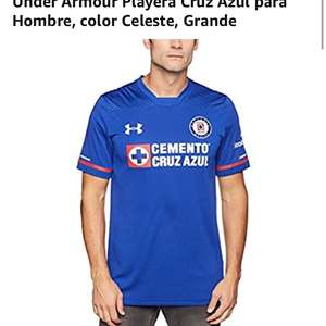 Amazon: Playera Cruz Azul Under Armour talla L