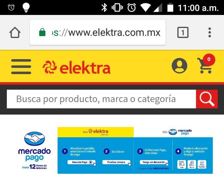 Elektra: 10% de descuento con MercadoPago y hasta 12 MSI