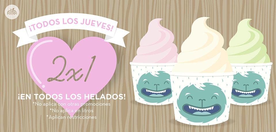 2x1 en Moyo en todos los helados los jueves