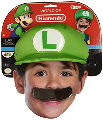Amazon: Kids Luigi Hat and Mustache Set