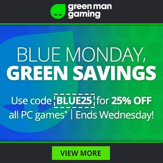 Lunes Azul en Green Man Gaming: 25% de descuento en juegos de PC