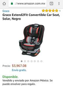 Amazon: Autoasiento Graco Extend2fit