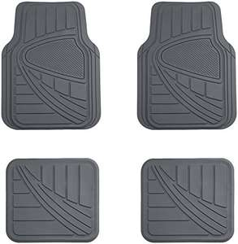 Amazon: AmazonBasics Alfombra para coche, 4 piezas, gris