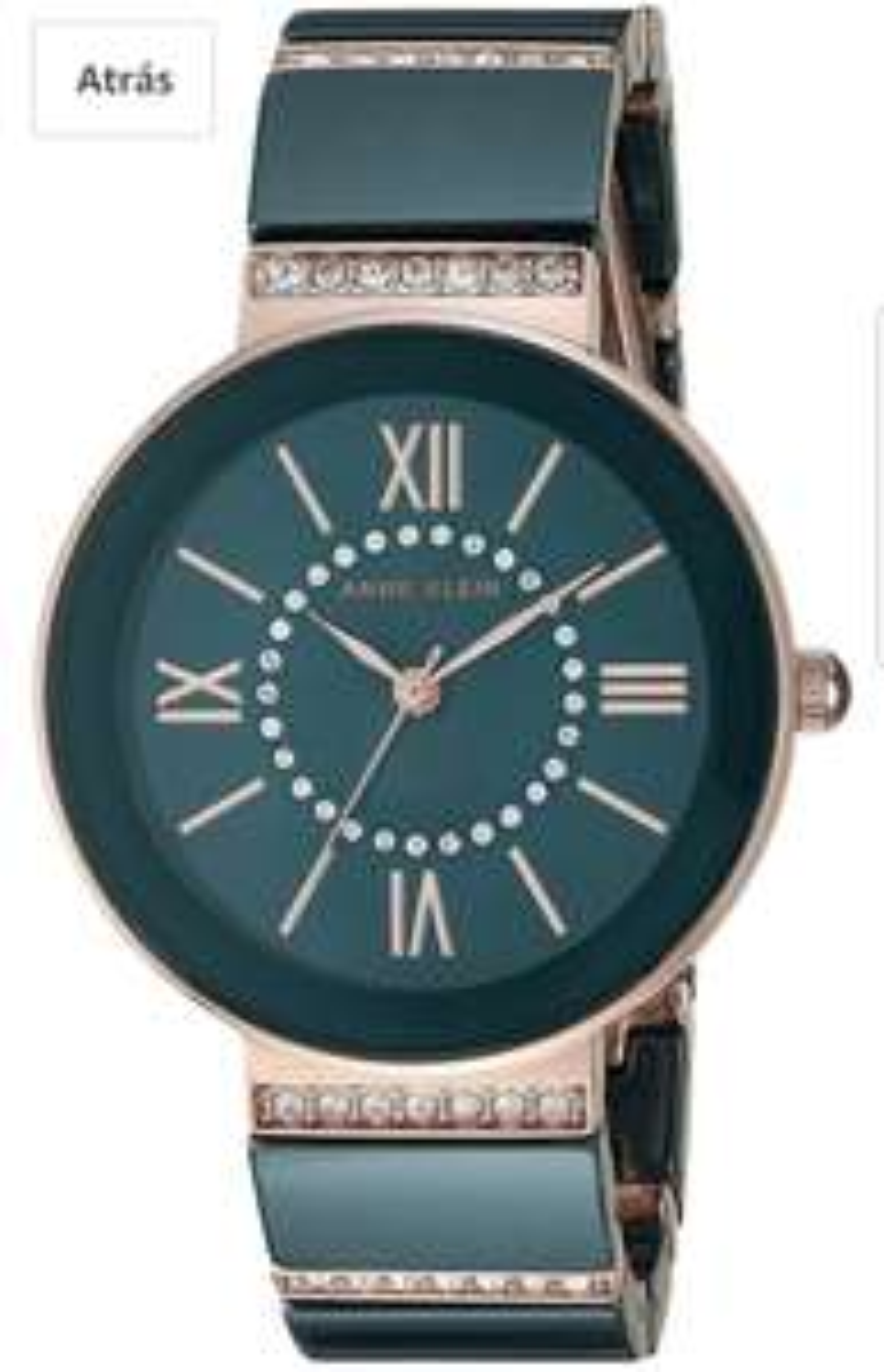 Amazon: Reloj Anne Klein cerámica y swarovski