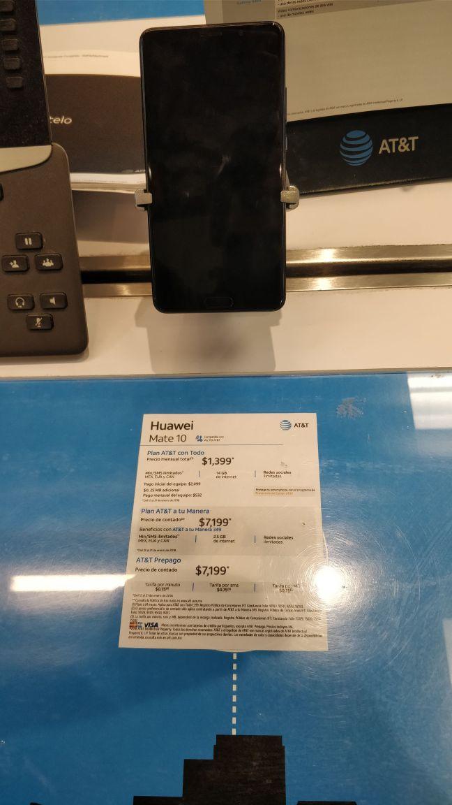AT&T Nuevo Laredo, Suc. Reforma: Huawei Mate 10 en PREPAGO