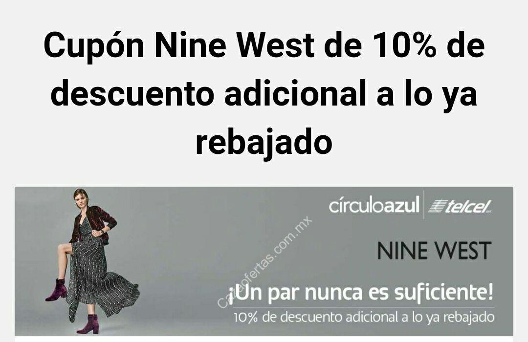 Cupón adicional 10% a lo ya rebajado en Nine West