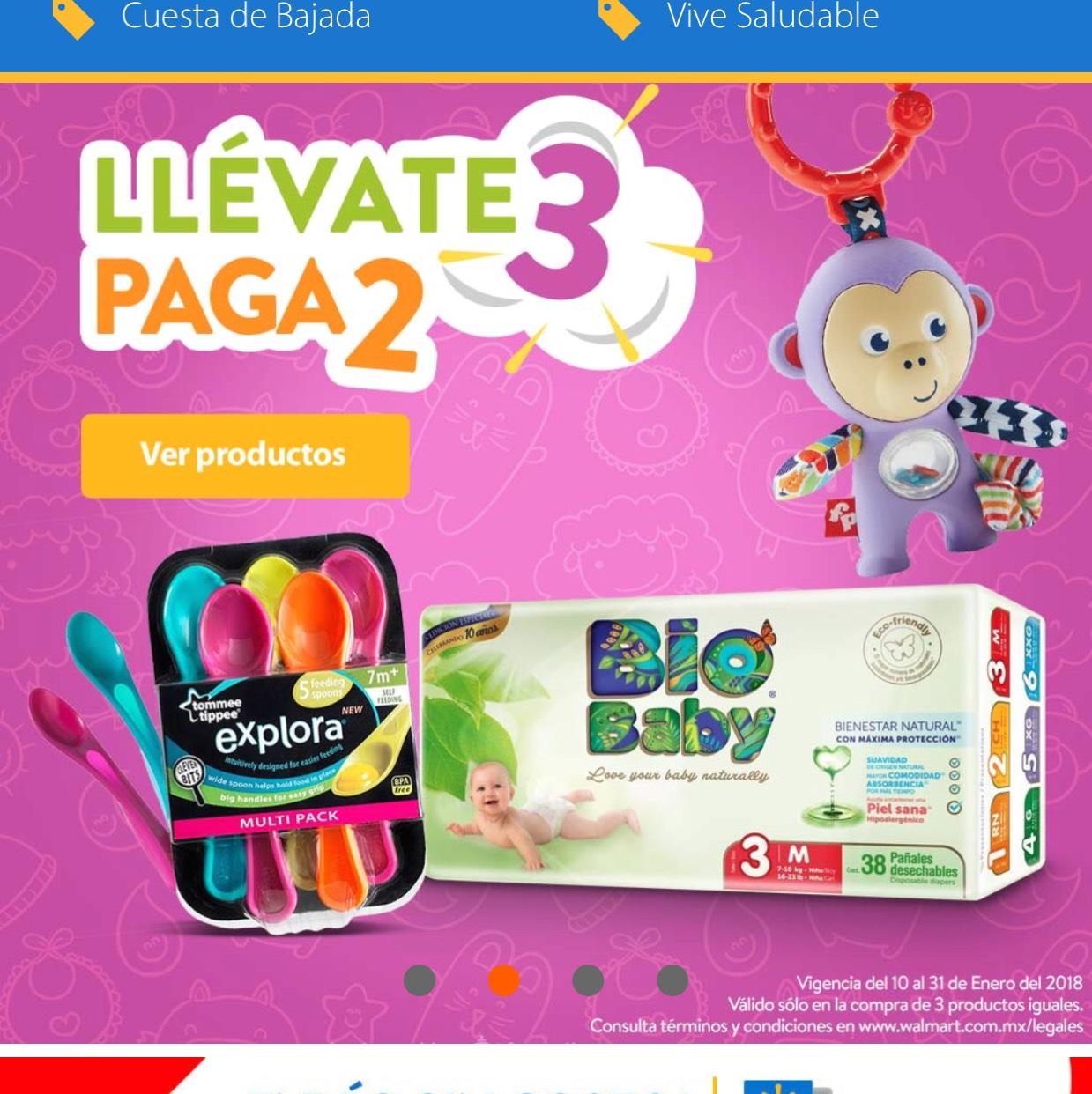 Walmart en línea: 3x2 en artículos para bebés seleccionados + envío gratis