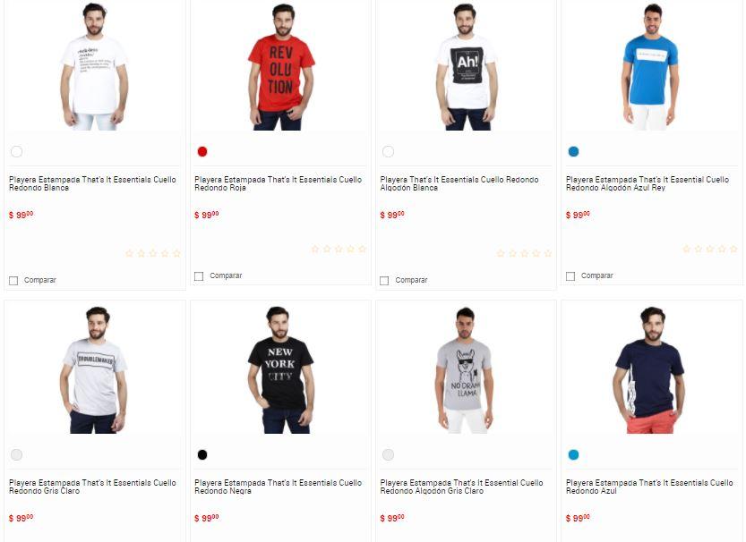 Liverpool en línea: Playeras para ellos desde $99