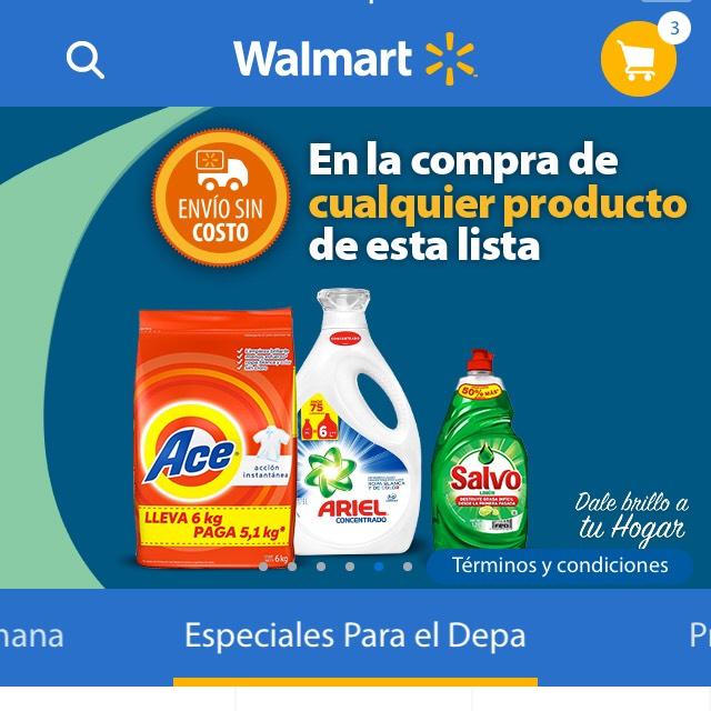 Walmart Súper: Envío gratis en súper comprando artículos seleccionados