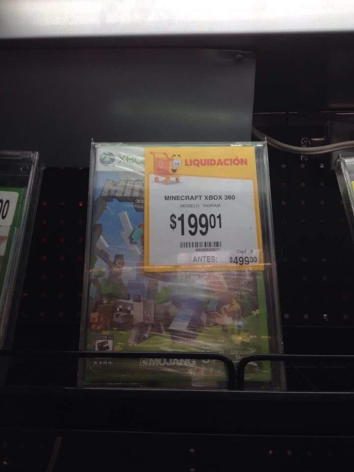 Walmart Paraíso Cuernavaca: Minecraft de Xbox 360