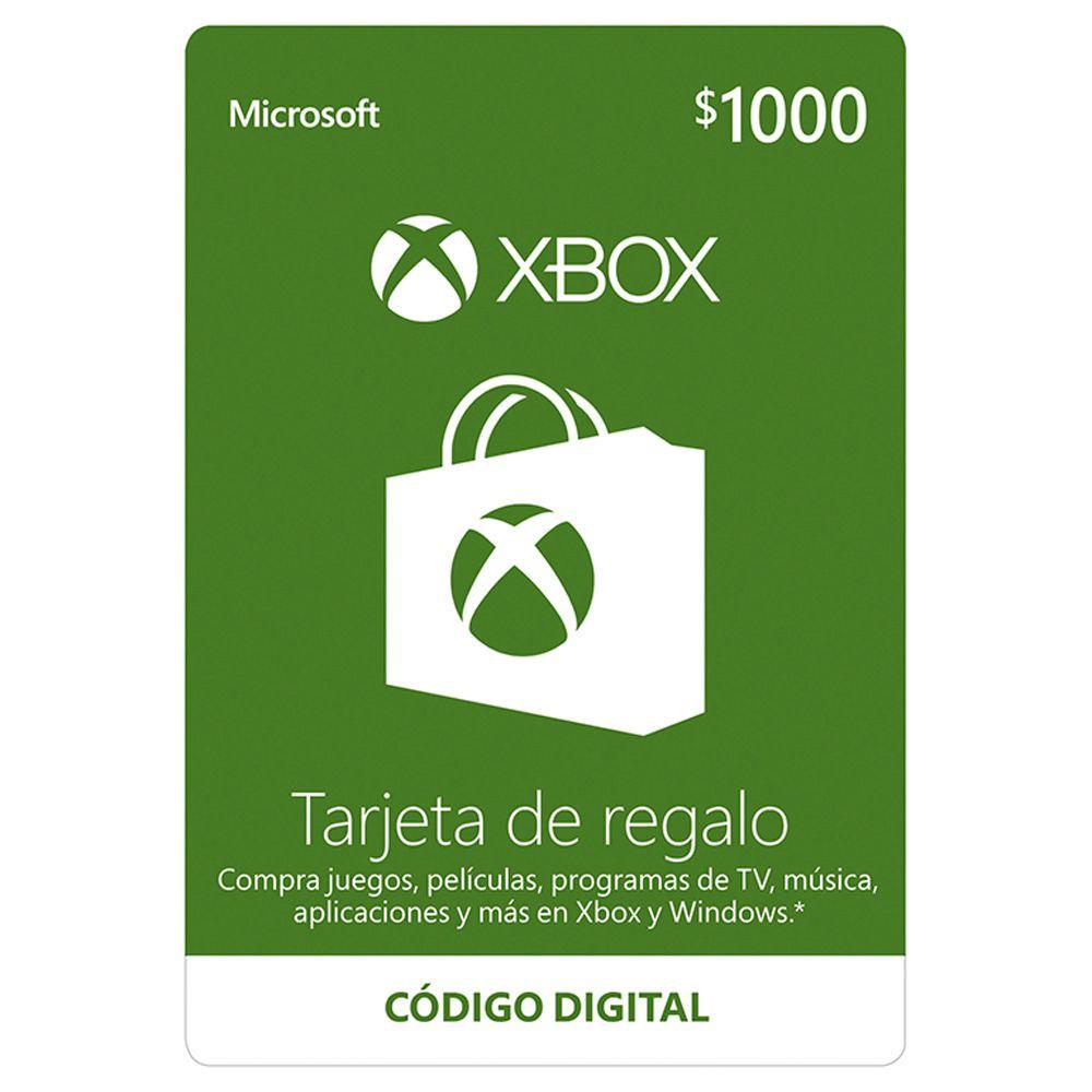 Elektra XBOX LIVE TARJETA DE REGALO $1000 MXN DESCARGABLE $809 con cupon el mejor precio en este momento