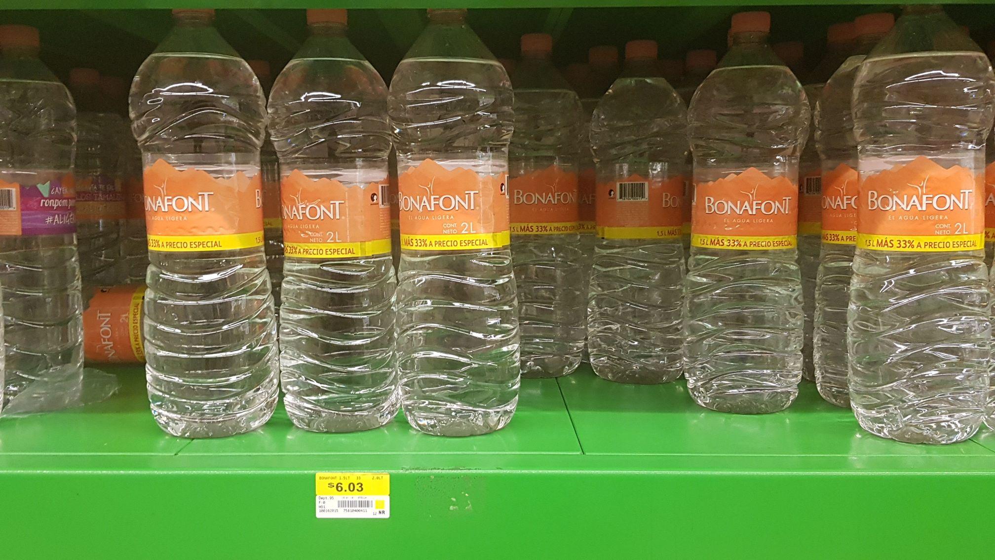Bodega Aurrerá: Agua Bonafont de 2lt a $6.03